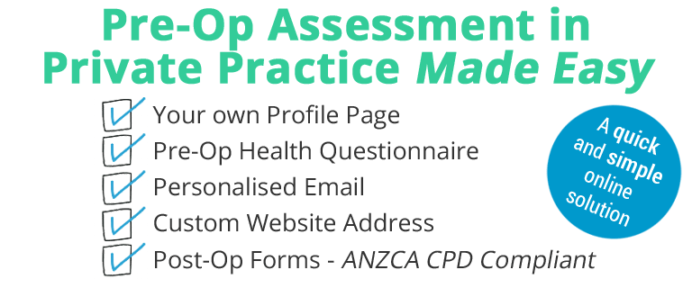 preoperative assessment anaesthetist