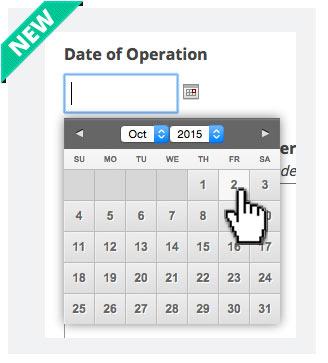 Pre-op Health Questionnaire Improvement - Date Picker
