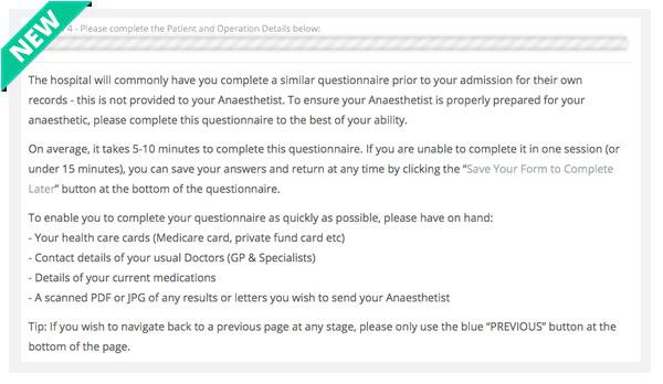 Pre-op Health Questionnaire Improvement - Preparation Guide