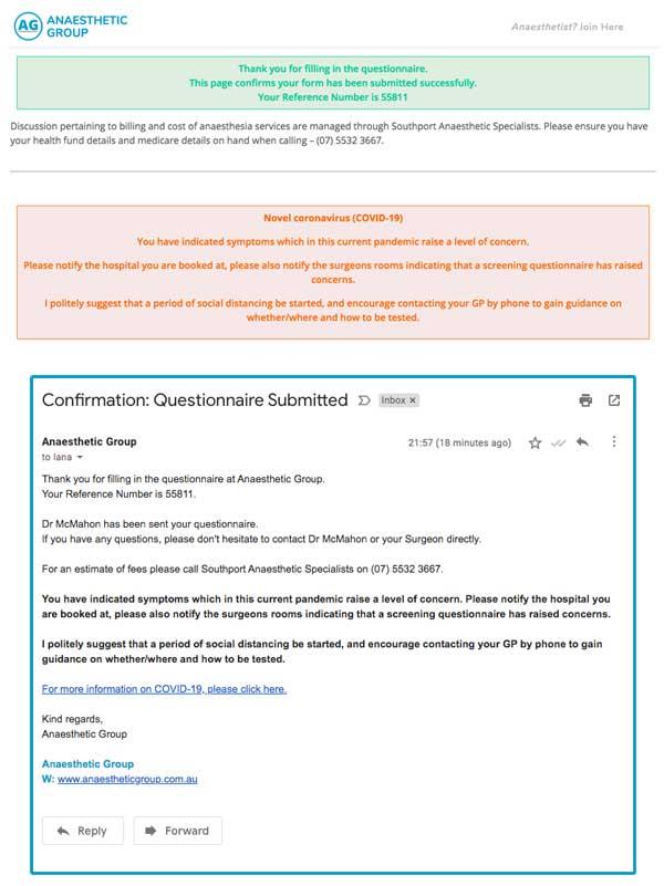 Novel coronavirus COVID-19 Warning - Preoperative Anaesthetic Assessment