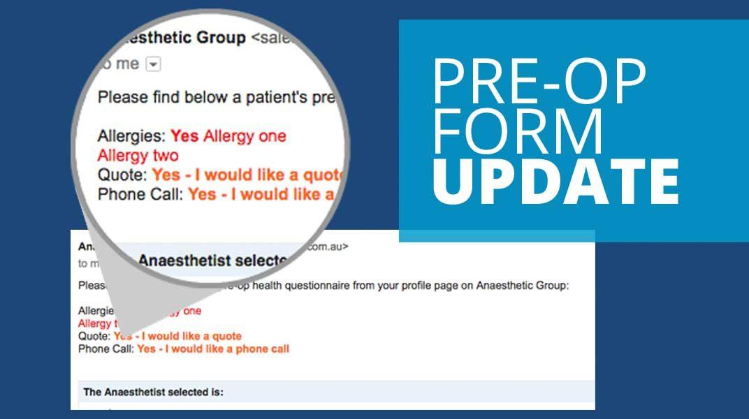Pre Op Allergy Anaesthetics