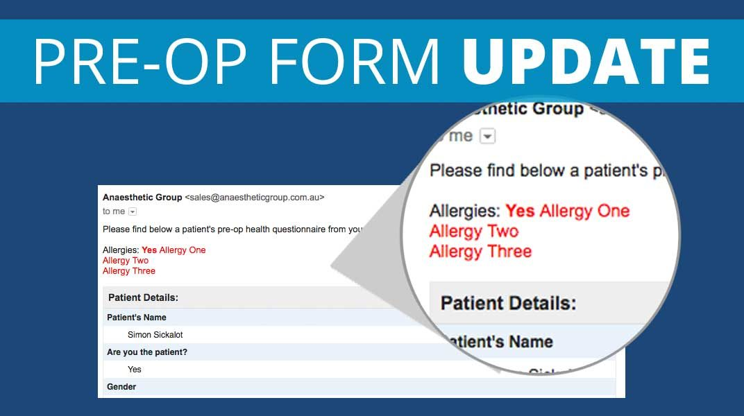 pre medical assessment allergies