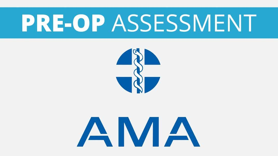 private pre op assessment